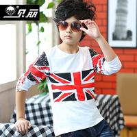 Male child autumn male child T-shirt long-sleeve shirt male big boy child long-sleeve T-shirt basic shirt