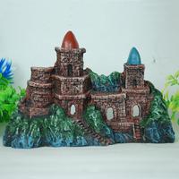 Fish tank aquarium decoration castle L17cm*H16cm*W5.5cm resin art ornament free shipping