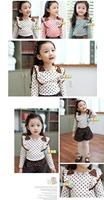 2014 autumn bow girls clothing baby child long-sleeve T-shirt tx-073421 basic shirt