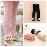 2014 100% cotton spring and autumn child girl legging trousers skinny pants kids leggings 100-150cm height girls