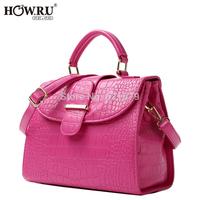 Free shipping 2014 fashion OL outfit for Crocodile handbag messenger bag