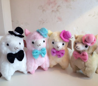 White Pirate Hat Arpakasso Alpacasso Alpaca Plush Soft Toy Dolls Cute Lovely Gift for Kids Baby