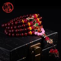Butterflies india lobular red sandalwood beads bracelets 100 6mm lovers design rosary female