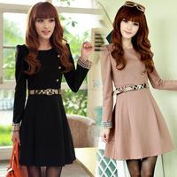 Autumn dress 2015 women's princess dress elegant slim waist bubble long-sleeve knee length casual dress winter