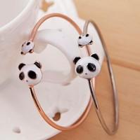 E for 501 0 panda head bracelet small accessories bracelet hand ring fashion