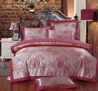 158 100% home textile cotton satin jacquard four piece set cotton 100% sistance bedding