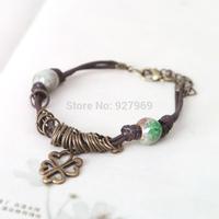 Handmade jewelry crack glaze bead bracelet chinese style of jingdezhen ceramics personalized vintage jewelry