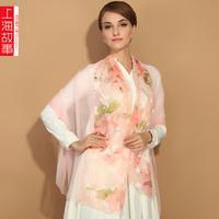 Long design silk scarf women's chiffon ultralarge spring and autumn scarf quinquagenarian cape
