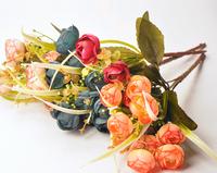 Super beautiful Creative camellia bouquet simulation silk flower roses tea rose camellia artificial decorative flowers