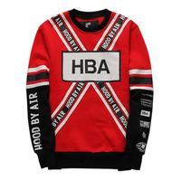 HBA HOOD BY AIR exo 21 logo baseball uniform pullover sweatshirt thick hoodies