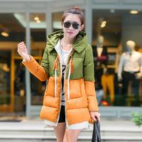 2014 tooling medium-long cotton-padded jacket female loose plus size cotton-padded jacket outerwear thickening cotton-padded
