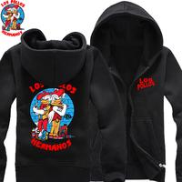 2014 new drama Breaking Bad Jokes LOS POLLOS HERMANOS thicker fleece zip sweater cotton man hoody hoodies