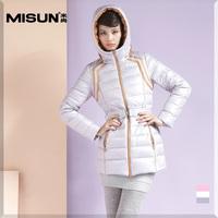 2014 winter women's white fashion slim medium-long thickening brief involucres down coat Free shipping