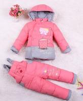 Hot!! New Children Autumn Winter Clothes Down Parkas Kids Clothing Sets Coat +Pants Girls Boys Winter Suits