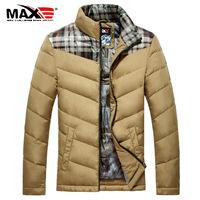 2014 new men's winter thick collar short down jacket coat stylish stitching