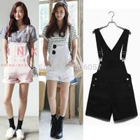 Free shipping 2015 Women's fashion leisure denim strap shorts Size S M L XL
