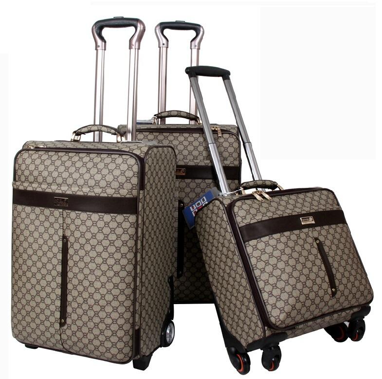 16 inch Fixed caster,PU,Diamond lattice,rolling luggage,travel luggage,Unisex business luggage(China (Mainland))