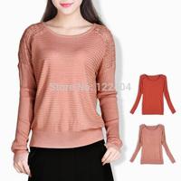 7901 loose 2014 autumn sweater cutout sweater pullover batwing shirt women's long-sleeve