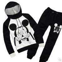 Plus Size Sport Suit Women Animal print Winter Set Women Casual Fleece Hoody Costume Hoodies Sweatshirts