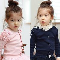 2014 autumn princess laciness girls clothing baby child long-sleeve cardigan wt-057863