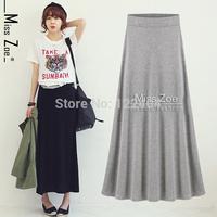 Summer slim autumn slim hip 100% cotton expansion bottom half-length full a-line skirt