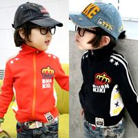 2014 autumn zipper boys clothing girls clothing baby child long-sleeve fleece outerwear at-027838