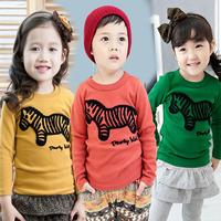 2014 autumn boys clothing girls clothing baby child long-sleeve T-shirt ax-128987 basic shirt