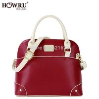 2014 fashionable casual vintage color block one shoulder cross-body handbag women's handbag