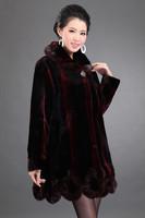 Hot-selling Imitation mink cashmere coat overcoat mother clothing fur coat medium-long stripe slim  women's winter coat