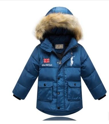 Child down coat male child down coat winter design baby short down coat boy children's clothing(China (Mainland))