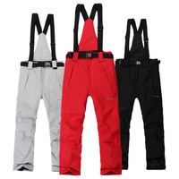 Skiing pants thickening lovers design bib pants trousers waterproof thermal outdoor hiking trousers for man and women