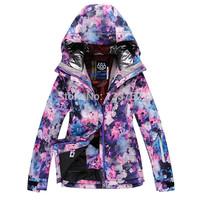 2014 ski suit Women skiing clothing outdoor waterproof windproof jacket thermal thickening