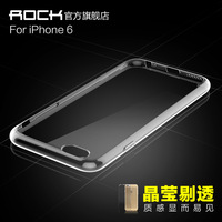 Free ship New arrival Original ROCK Ultrathin TPU Soft Covers for iphone 6 retail box