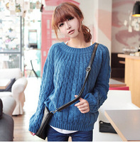 spring and autumn hot-selling sweater small twist pullover  classical o-neck sweater