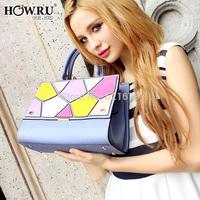 2014 fashion irregular pattern messenger bag handbag women's free shipping