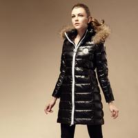 2014 plus size down coat female raccoon fur down coat female fashion long design