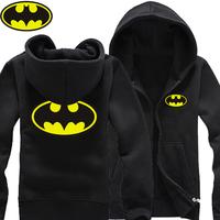 2014 New Batman Joker LOGO men fleece zip cardigan sweater coat cotton hoodies man hoody