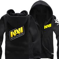 2014 New  NAVI Team uniforms for men and women winter thick fleece hooded zip cardigan sweater coat cotton hoodies man hoody
