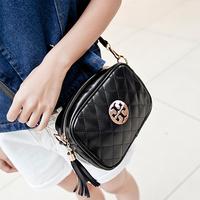 2014 women fashion brand shoulder bag small plaid cross-body vintage purse chain tassel cross-body bags mini messenger bags