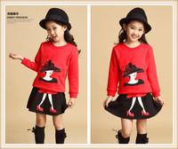 free shipping 2014 children's clothing female child autumn princess dress child pullover fashion twinset