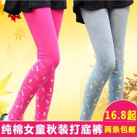 2014 100% cotton spring and autumn child girl legging trousers skinny pants kids leggings 100-160cm height girls