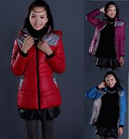 Pluz Size 2014 New Women Clothing Fashion Down Coat Women Winter Jacket Outerwear Womens thick jackets Parka Overcoat