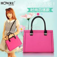 2014 fashionable casual formal sewing thread vintage one shoulder cross-body handbag women's handbag