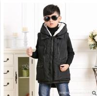 2014 child down coat down vest baby down coat frock vest children's clothing down coat baby warm vest winter outwear