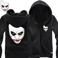 2014 new Batman movie clown mask big yards loose zipper cardigan fleece sweater coat cotton hoodies man hoody