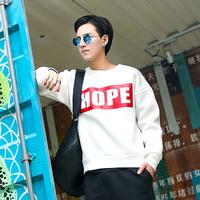 2014 new fashion cotton sweatshirt men solid pullover sweatshirt for mens Hoodies