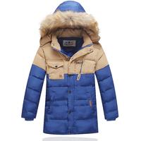 Child down coat boy child medium-long children's clothing down coat 2014 new style big boy thickening outerwear