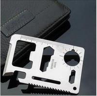 Car multifunctional car tool knife card car key charm emergency tools