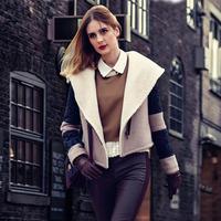 2014 autumn and winter female short jacket woolen outerwear all-match fashion woolen coat British style thickening overcoat