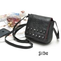 2014 fashion black rivet mini small cross-body bag fashion female bags